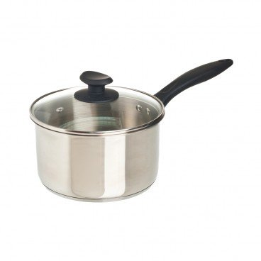COOK & EAT - 18 cm Stainless Steel Saucepan With Lid - SET