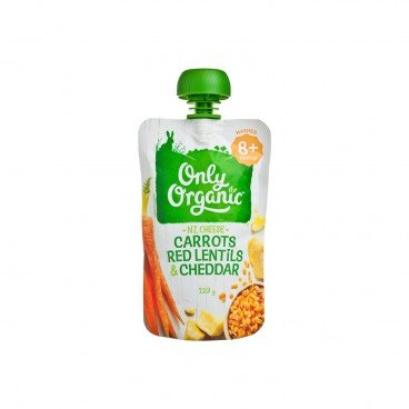 ONLY ORGANIC(PARALLEL IMPORT) - Stage 3 Baby Food Squeeze Pouch carrots Red Lentils Cheddar - 120G