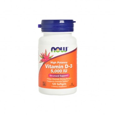 NOW FOODS - Vitamin D 3 5000 iu Softgels - 120'S
