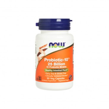 NOW FOODS - Probiotic 10 ™ 25 Billion Veg Capsules - 50'S