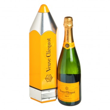 VEUVE CLICQUOT - Set yellow Label Pencil Box - 75CL