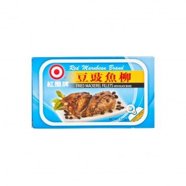 RED MARUBEAN BRAND - Fried Mackerel Fillets With Black Beans - 115G