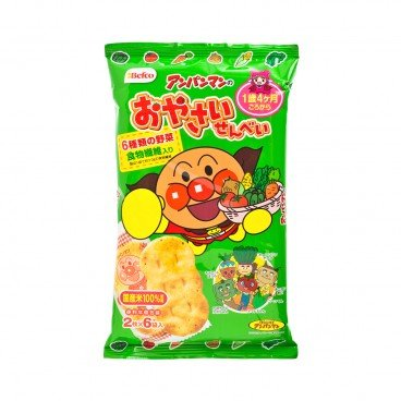 BEFCO - Anpanman Rice Cracker vegetable - 12'S