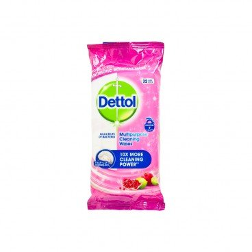 DETTOL(PARALLEL IMPORT) - Clean Fresh Multi Purpose Cleaning Wipes pomegranate - 32'S