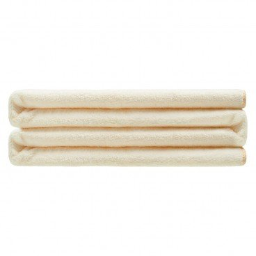 LIVING GOODS - Super Absorbent Coral Fleece Bath Towel 70 x 140 cm Light Yellow - PC