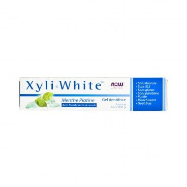 NOW FOODS - Xyliwhite Platinum Mint Toothpaste Gel With Baking Soda - 181G