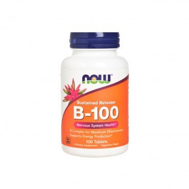 NOW FOODS - Vitamin B 100 Sustained Release Tablets - 100'S