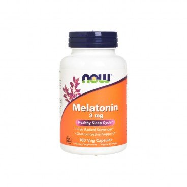 NOW FOODS - Melatonin 3 mg Tablets - 180'S