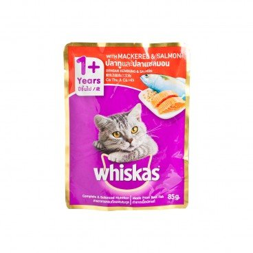 WHISKAS - Pouch Mackerel Salmon - 85G
