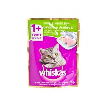 WHISKAS - Pouch Tuna Whitefish - 85G