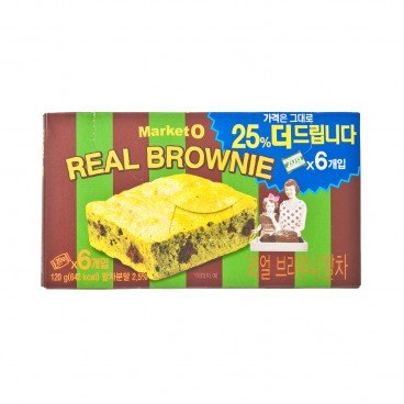 ORION - Market O Real Brownie Chocolate Cake matcha Value Pack - 20GX6