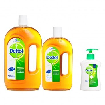 DETTOL - Dettol Antiseptic Liquid With Hand Wash 250 g - 1.95L+250G