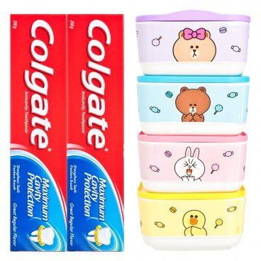 COLGATE - Dental Cream Double Pack Great Regular Flavor Free Line Friends Candy Box random - 250GX2