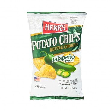 HERR'S - Jalapeno Kettle Cooked Potato Chips - 170G
