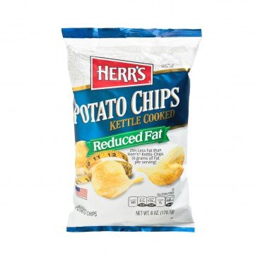 HERR'S - Kettle Cooked Salted Potato Chips - 170G