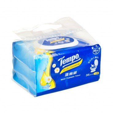 TEMPO得寶 - Moist Flushable Tissue chamomile - 35'SX3