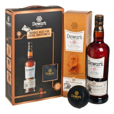 DEWAR'S - Gift Box blended Scotch Whisky 12 Years - SET