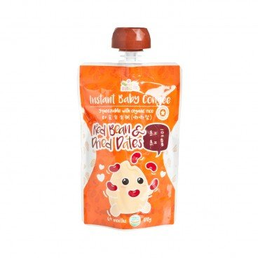 BABY BASIC - Baby Congee squeeze Pouch Red Bean Dried Dates - 120G