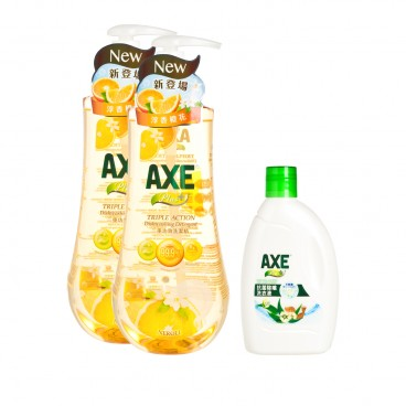 AXE - Plus Triple action Dishwashing Detergent neroli Promotion Set - 1KGX2+250ML