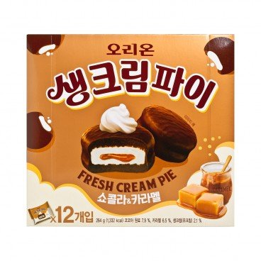 ORION - Fresh Cream Pie chocolate Caramel - 12'S
