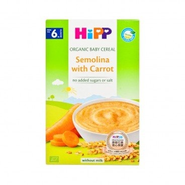 HIPP - Organic Cereal Semolina With Carrot - 200G