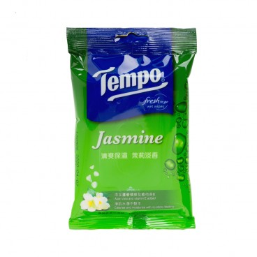 TEMPO得寶 - Fresh Moisturizing Jasmine Care Wet Wipes - 10'S