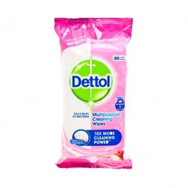 DETTOL(PARALLEL IMPORT) - Clean Fresh Multi Purpose Cleaning Wipes pomegranate Lime - 80'S