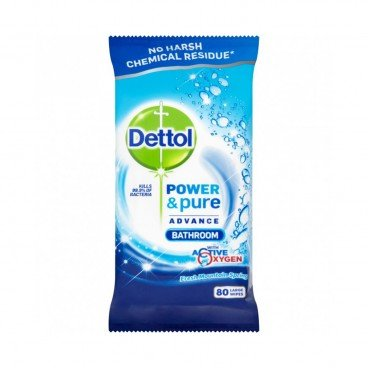 DETTOL(PARALLEL IMPORT) - Power Pure Bathroom Wipes - 80'S