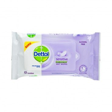 DETTOL(PARALLEL IMPORT) - Sensitive Anti Bacterial Wet Wipes - 10'S