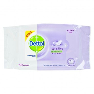 DETTOL(PARALLEL IMPORT) - Sensitive Anti Bacterial Wet Wipes - 50'S