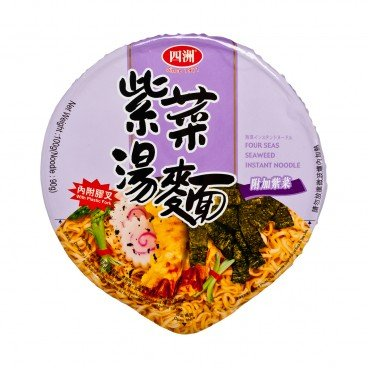 FOUR SEAS - Seaweed Instant Bowl Noodle - 100G