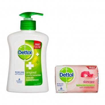 DETTOL(PARALLEL IMPORT) - Liquid Ph balanced Handwash original With Soap - 200ML+1PC