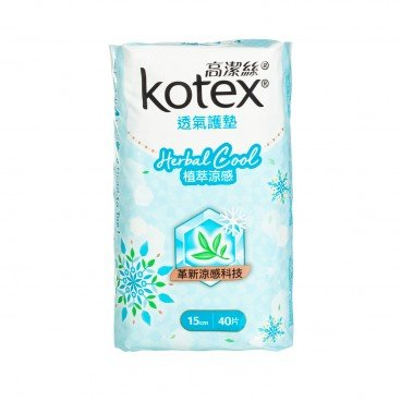 KOTEX - Herbal Cool Liner Reg 40 s - 40'S