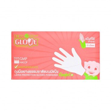 I'M GLOVE - Latex Protection Gloves L Size - 100'S