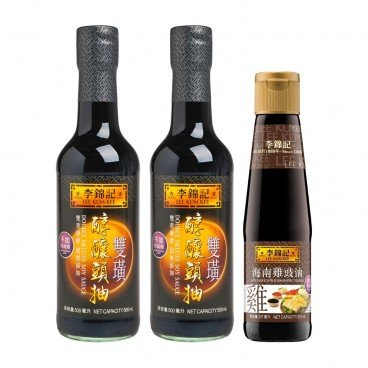LEE KUM KEE - Double Deluxe Soy Sauce soy Sauce For Hainanese Chicken - 500MLX2+207ML