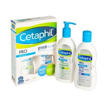 CETAPHIL - Pro Ad Derma Moist And Wash Combo - 295MLX2