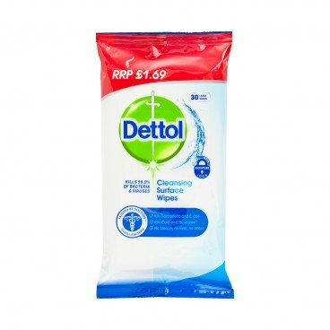 DETTOL(PARALLEL IMPORT) - Clean Surface Wipes - 30'S