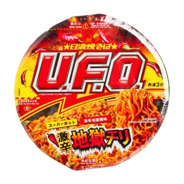 NISSIN - Ufo Stir Noodle super Spicy Chilli Flavor - 89G