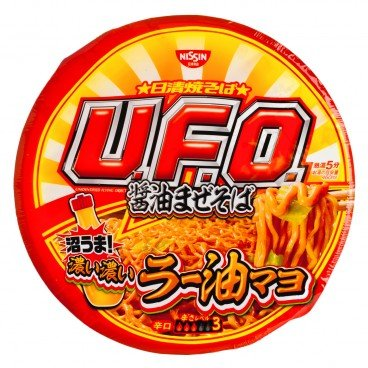 NISSIN - Fried Noodle ufo Chili Oil - 113G