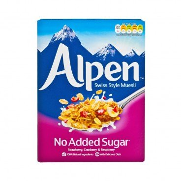 ALPEN - Muesli no Sugar Added Assorted Berry - 560G