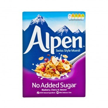 ALPEN - Muesli no Sugar Added Blueberry Almond - 560G