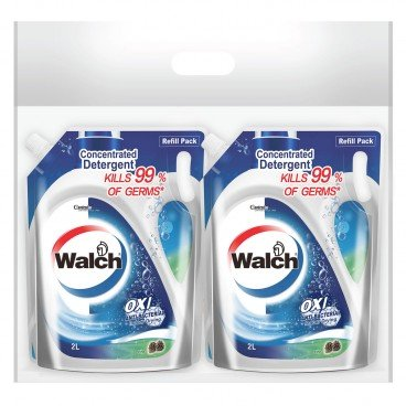 WALCH - Anti bacterial Laundry Detergent Pine Refill Bag Pack - 2LX2