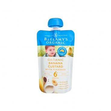 BELLAMY'S ORGANIC - Organic Banana Custard With Flaxseed - 120G