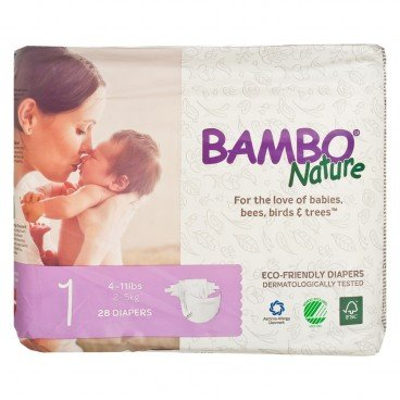 BAMBO NATURE - Rash Free Eco Baby Diapers Nb 2 5 Kg - 28'S