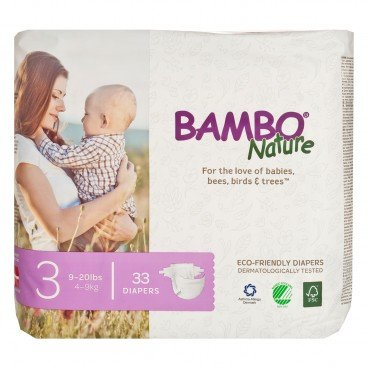 BAMBO NATURE - Rash Free Eco Baby Diapers S 4 9 Kg - 33'S