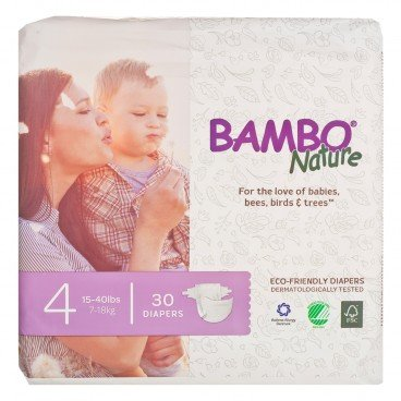 BAMBO NATURE - Rash Free Eco Baby Diapers M 7 18 Kg - 30'S