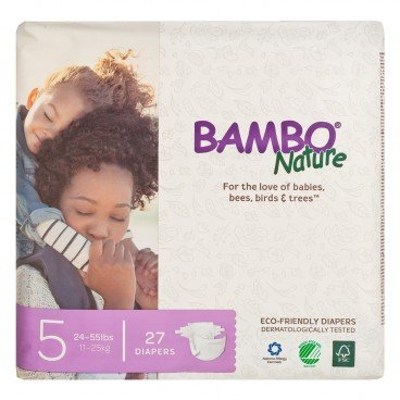 BAMBO NATURE - Rash Free Eco Baby Diapers L 11 25 Kg - 27'S