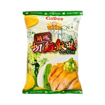 CALBEE - Potato Chips chicken Rice With Ginger scallion Sauce Flavoured - 70G