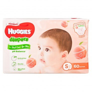 HUGGIES - Peach Diaper S - 60'S