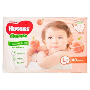 HUGGIES - Peach Diaper L - 40'S